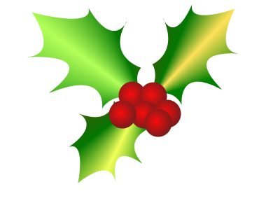 Free Christmas Holly Clip Art