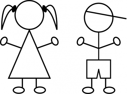 Boy And Girl Stick Figure | fashionplaceface.