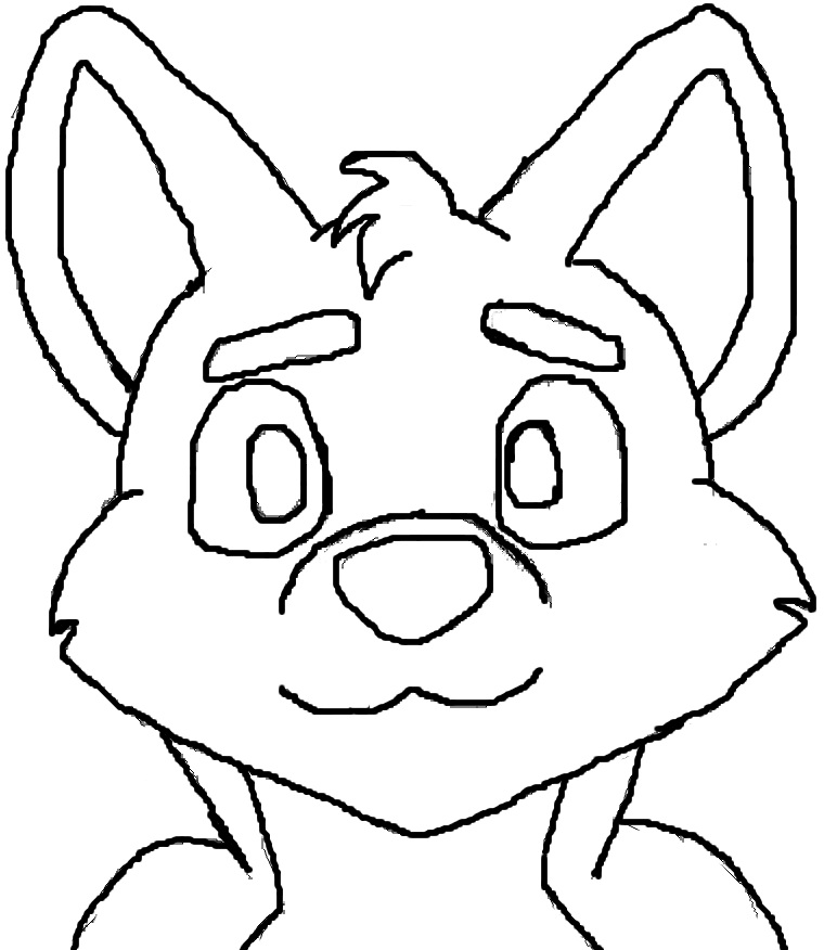 Fox Furry Base Coloring Pages