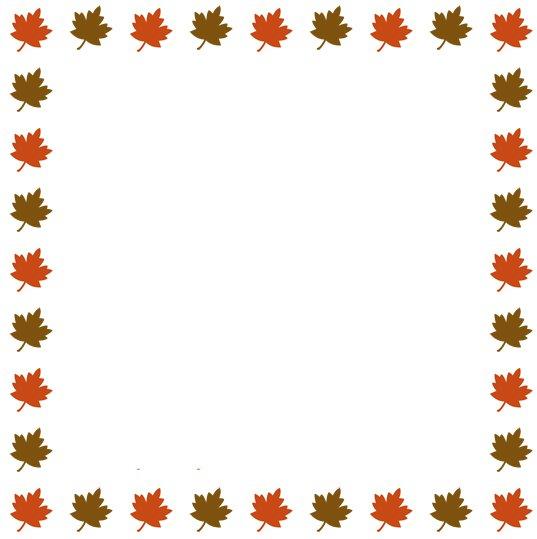 Thanksgiving Clip Art Border - - 31.5KB