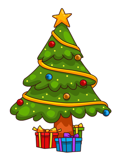 Free Cute Cartoon Christmas Tree Clip Art