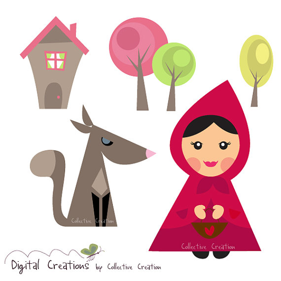 Little Red Riding Hood and the Wolf Digital by CollectiveCreation