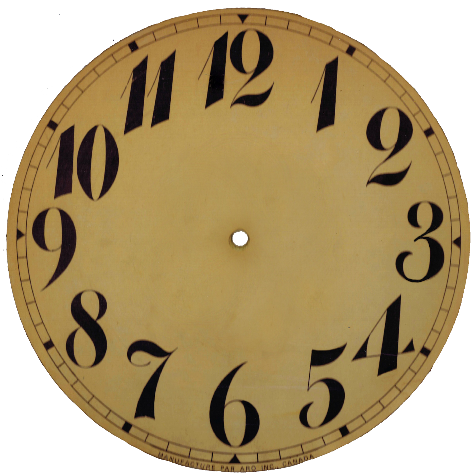 Vintage Clock Face Template - NextInvitation Templates