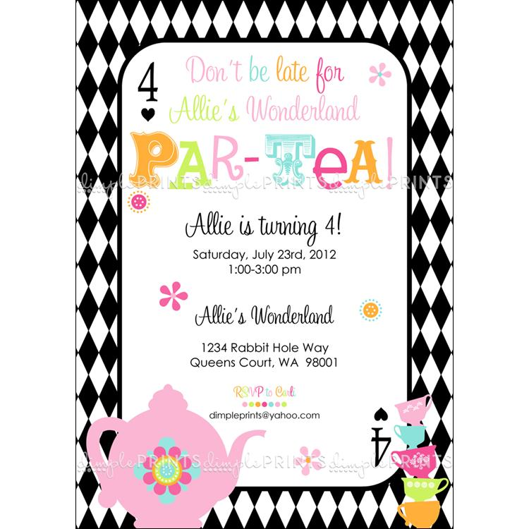 Mad Hatter Birthday Party Invitations - Free Printable Invitation ...