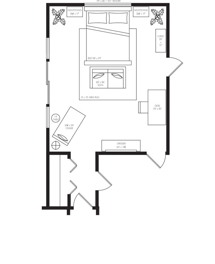 One bedroom design layout best decorating for 1 bedroom design layout