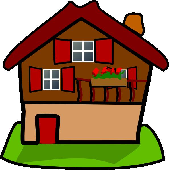 Cartoon House clip art - vector clip art online, royalty free ...