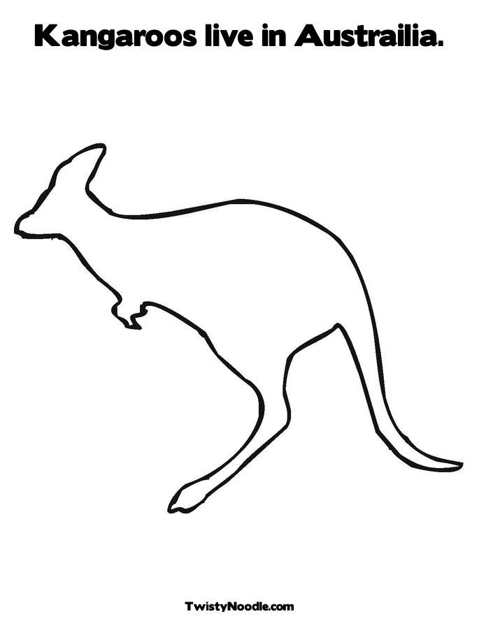 Kangaroo silhouette clip art free