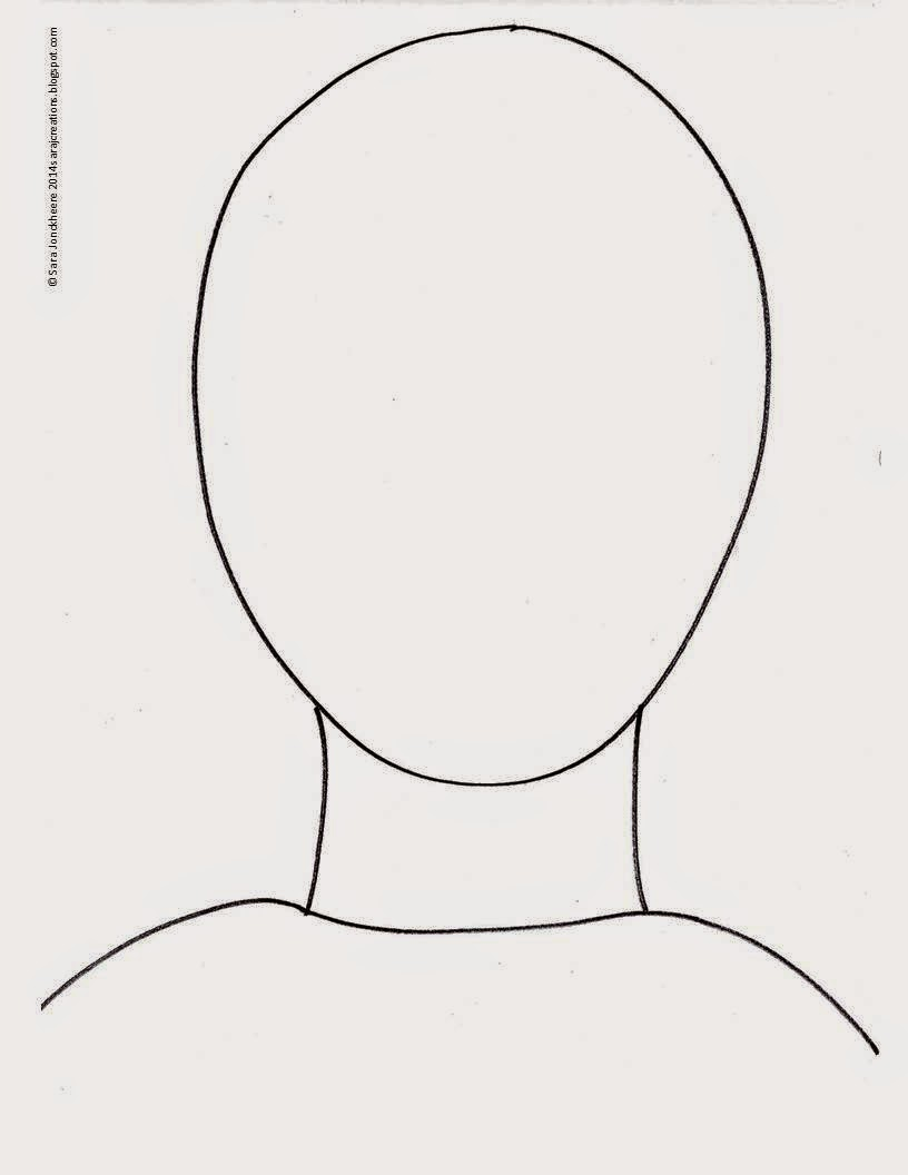 Images For > Face Outline Template For Children