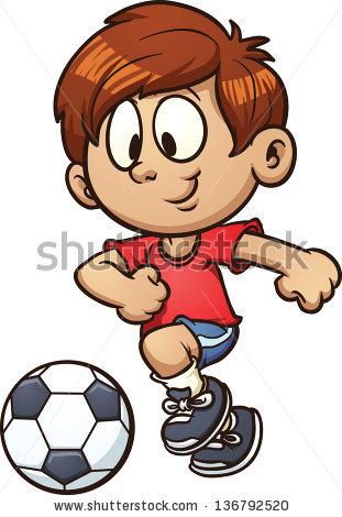 Cartoon Boy Playing Football Cliparts Co