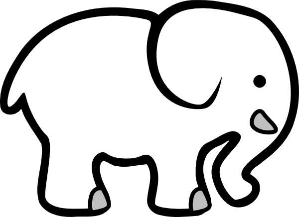 Elephant Clip Art Black And White | Clipart Panda - Free Clipart ...