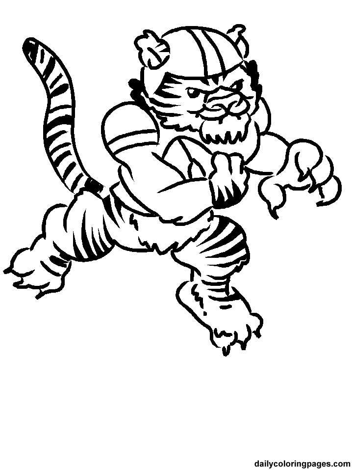 LSU Tigers Coloring Pages