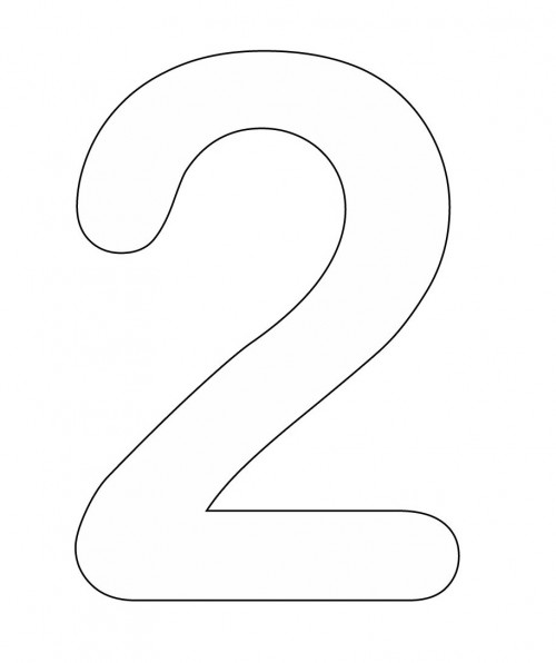 Number 2 Cliparts Co Number 2 Coloring Page
