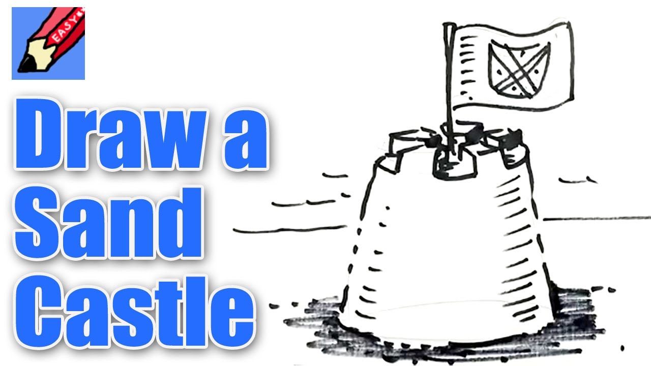 How To Draw A Sand Castle Real Easy Spoken Tutorial ...