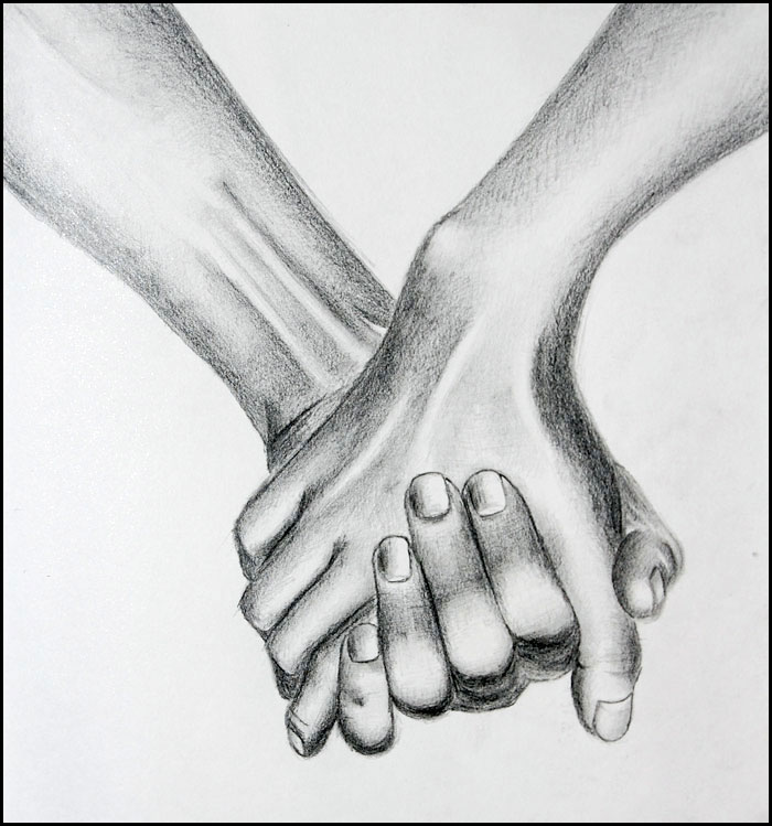 Painting Of Open Hands Holding Heart