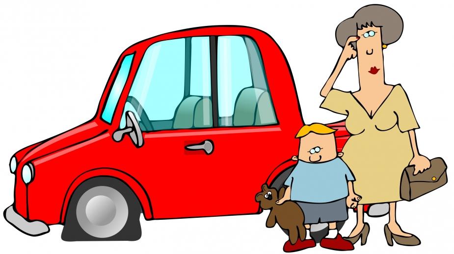 Cartoon Car Crash Women