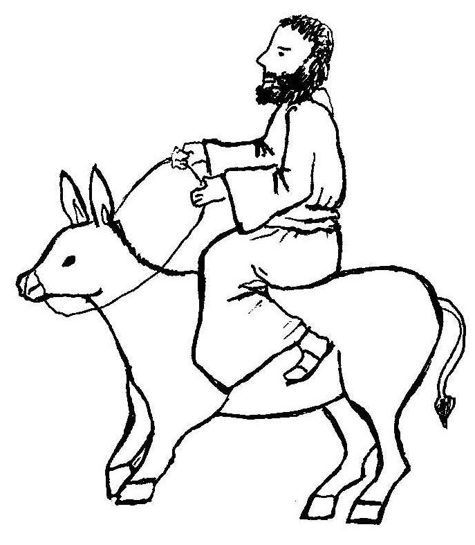 clipart jesus on donkey - photo #25