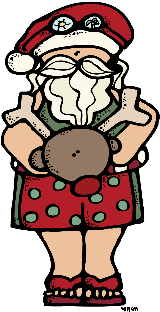 MelonHeadz: Warm weather Santa :)
