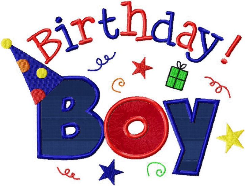 Happy birthday boy and girl machine embroidery design applique two