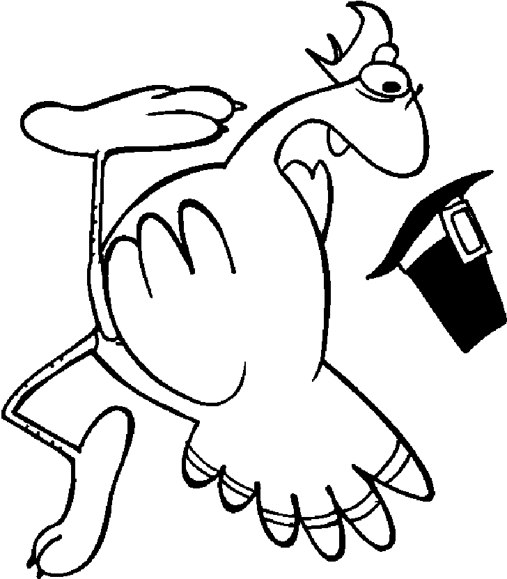 thanksgiving cartoon turkeys coloring pages - photo#20
