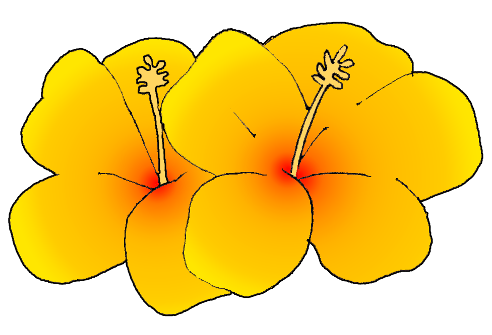 Cartoon Hibiscus Flower - Cliparts.co