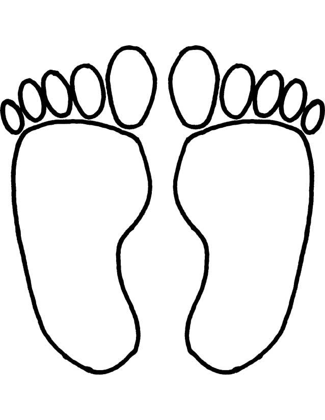 page of feet Colouring Pages