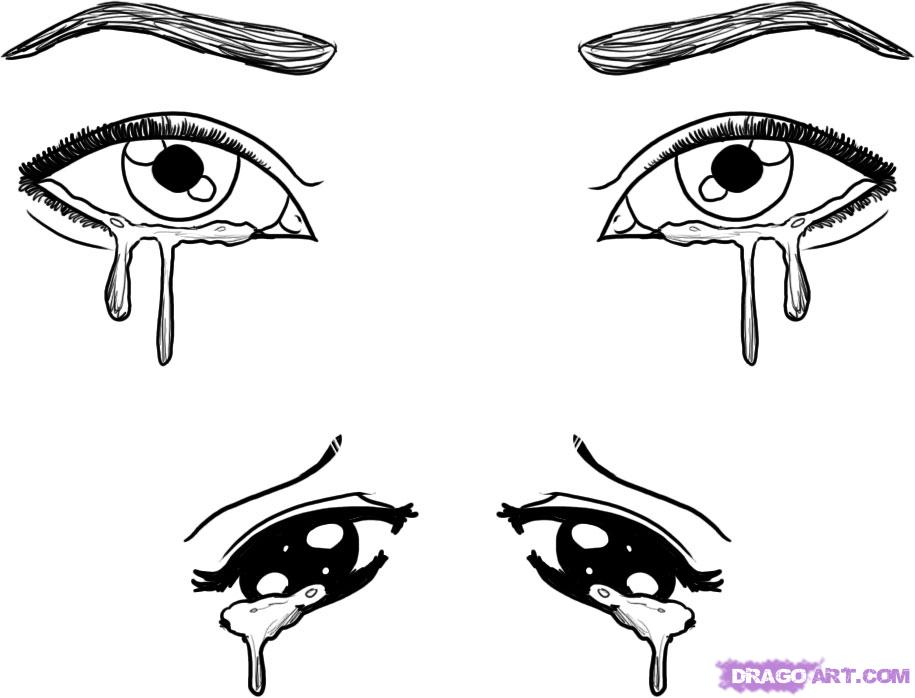 Рисунки заплаканных глаз