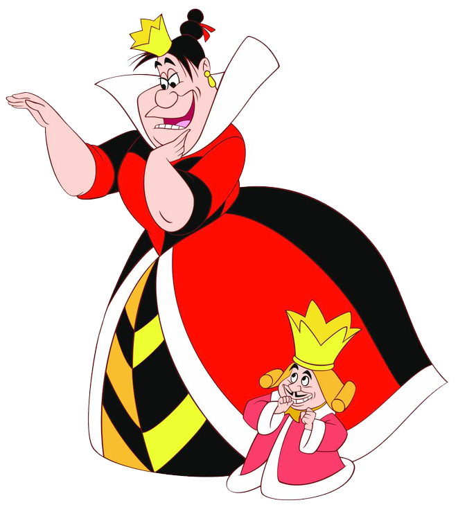 Queen & King of Hearts Clipart
