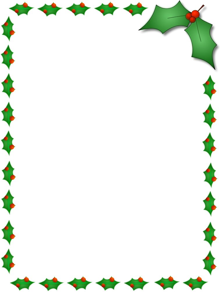 Christmas Holly Clip Art Border | quotes.lol-rofl.com