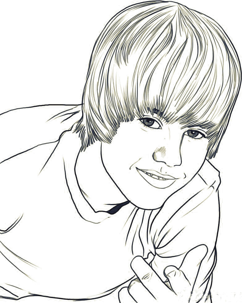 justin bieber coloring pages to color