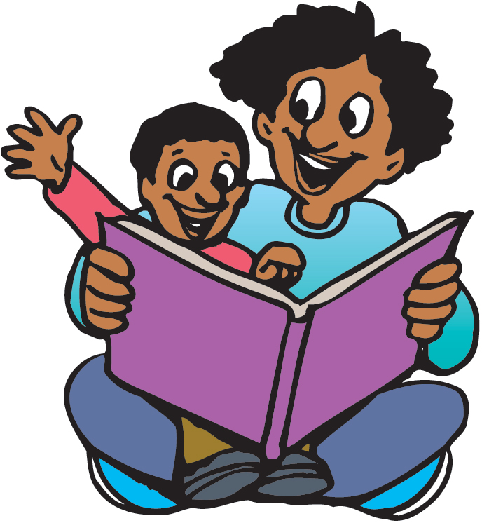 Family Reading Together Clipart
