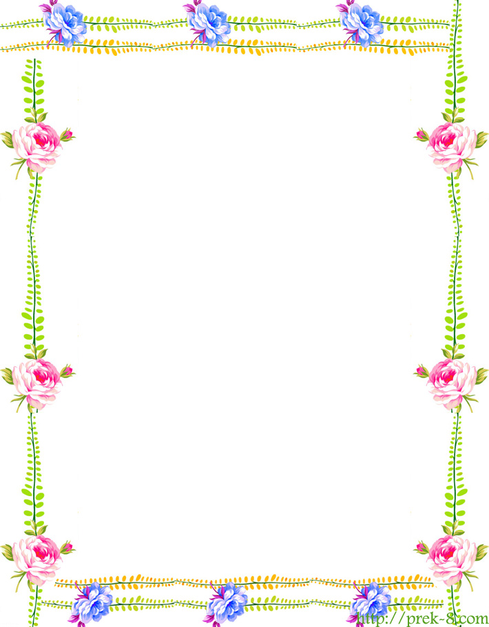 Page Border Flowers - Cliparts.co