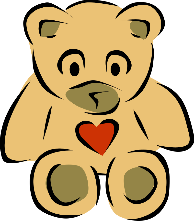 Teddy Bear with Heart SVG Vector file, vector clip art svg file ...
