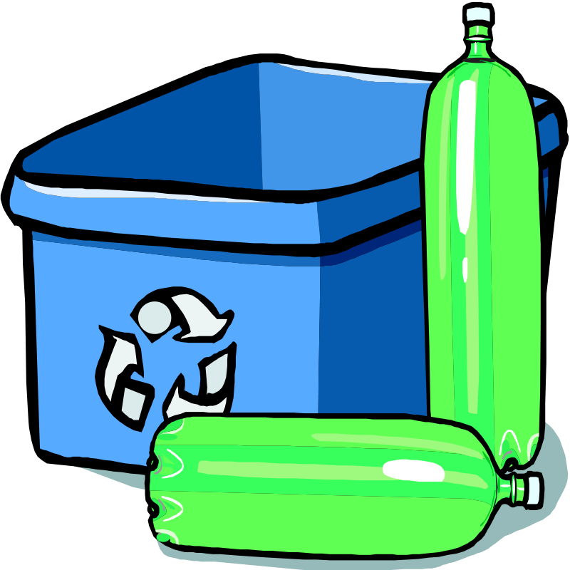 Recycling Bin And Bottles Clip Art Download