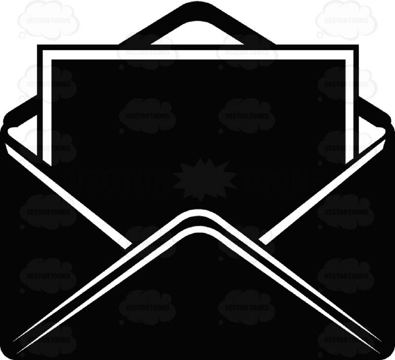 Afbeeldingsresultaat voor black email emoji
