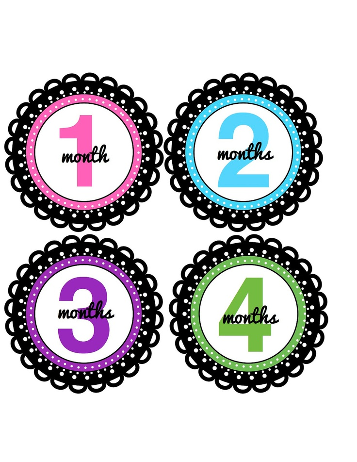 Baby Girl Onesie Stickers in Bright Colors....Favorite Baby Shower Gi…