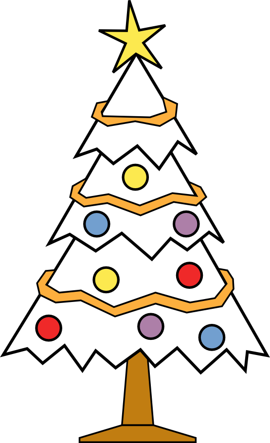 xmas christmas tree 112 black white line art coloring book ...