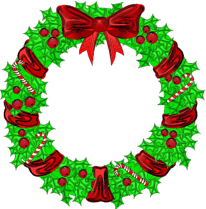 Cartoon Christmas Wreath