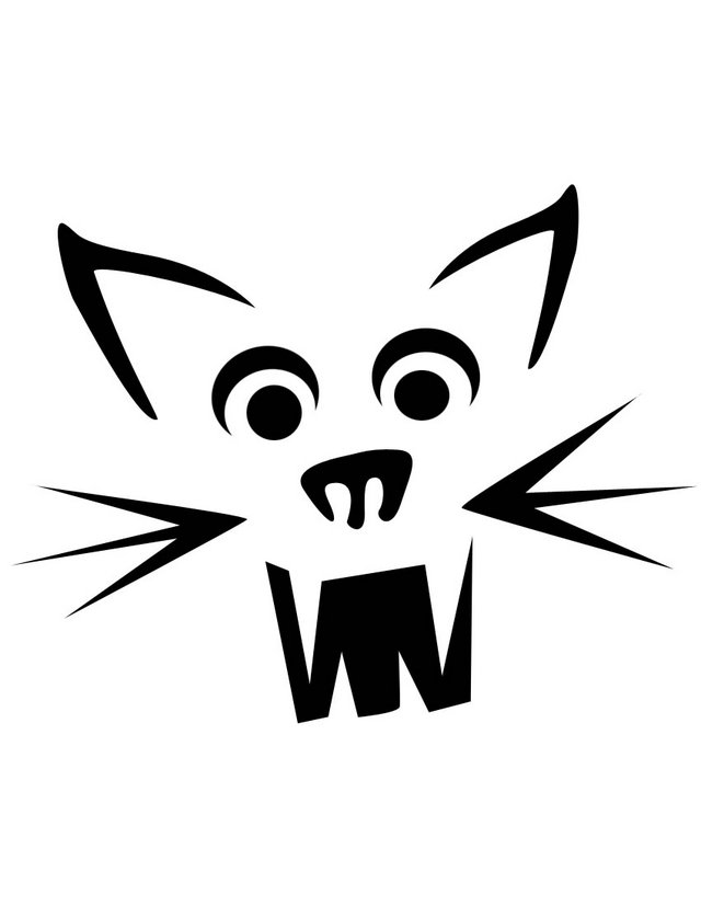 Cat Face Stencil Images & Pictures - Becuo