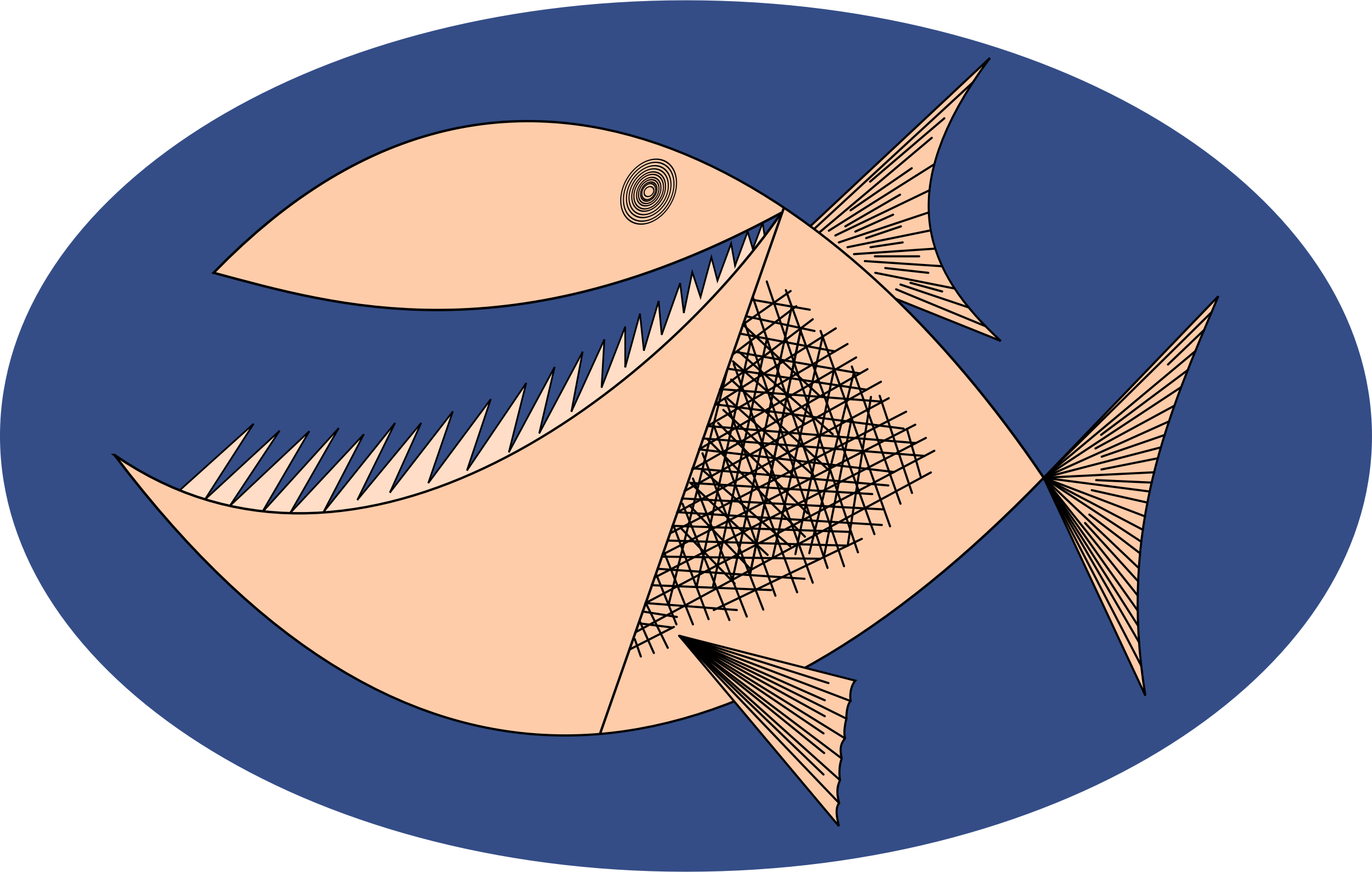 Clipart - Fish by Rones