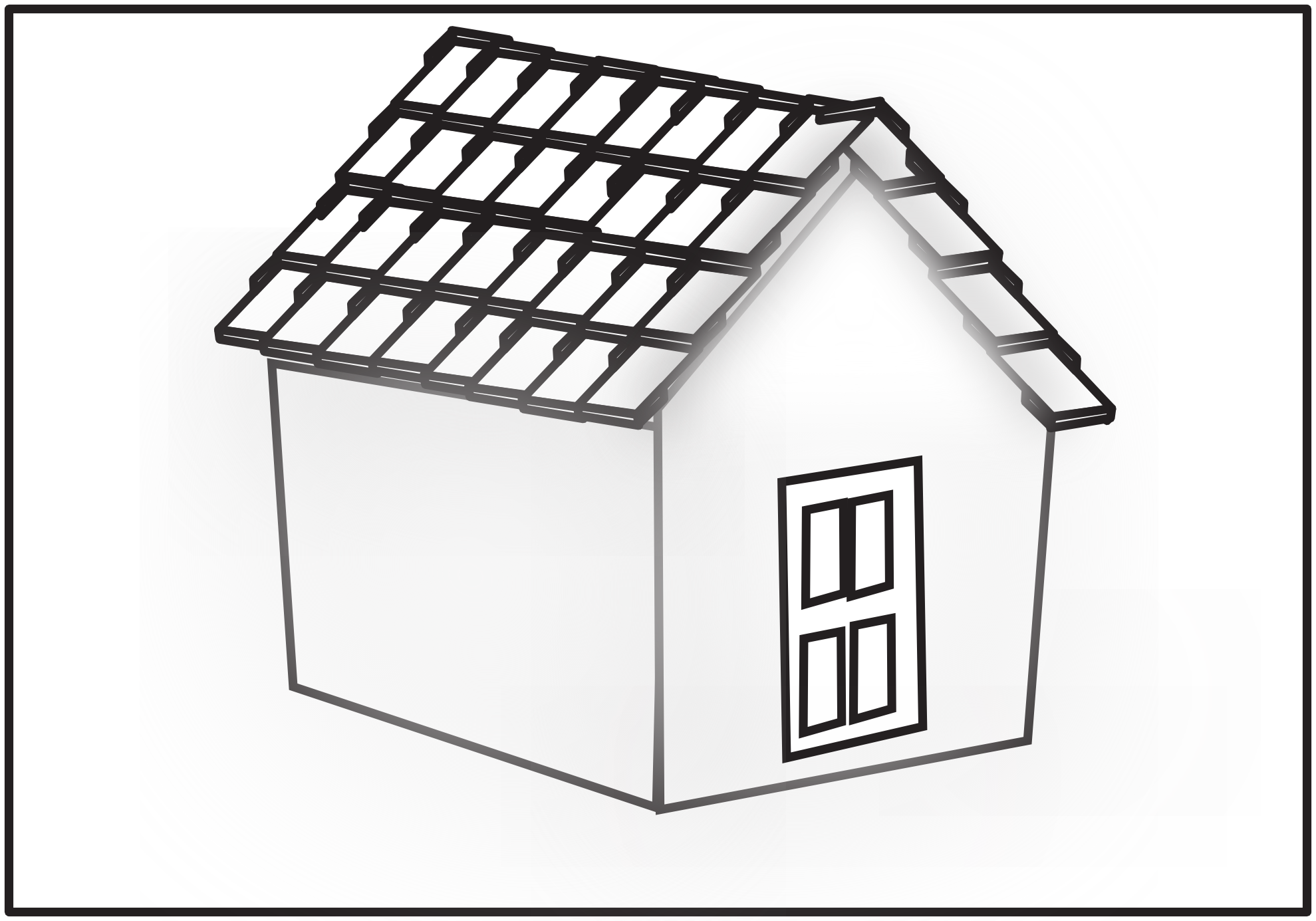 Line Art Images Of Houses : House line art cliparts