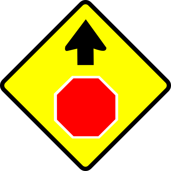 Leomarc Caution Stop Sign clip art Free Vector / 4Vector