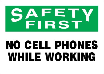 Printable No Cell Phone Sign
