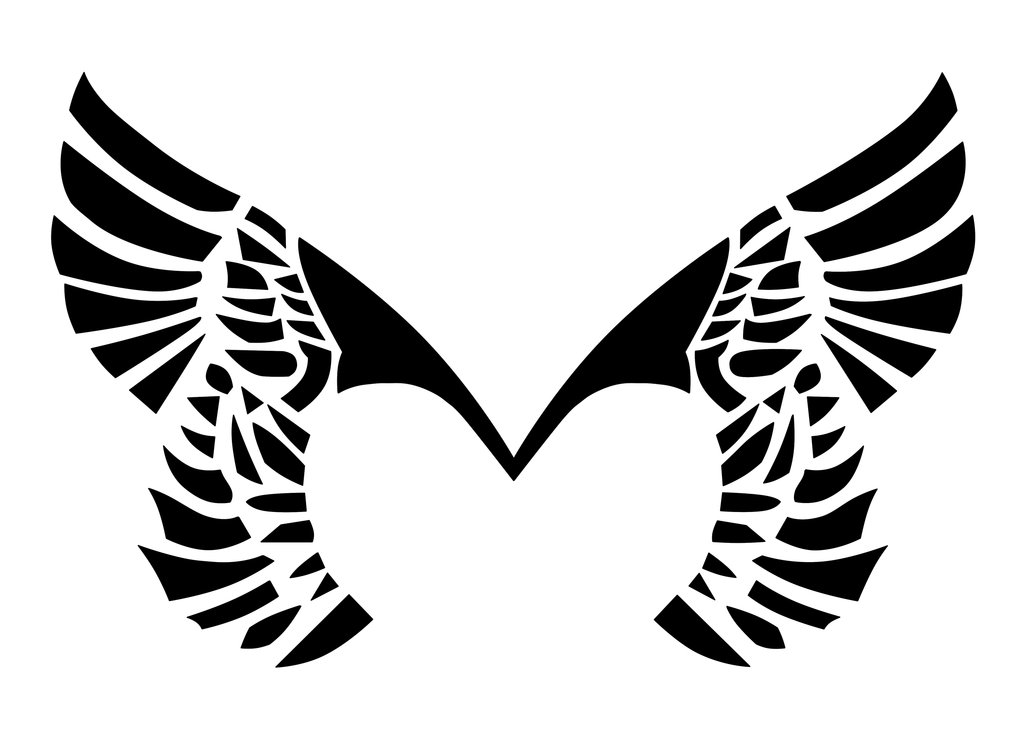 Placebo Wings Tattoo by  Eagle Wings Logo Design