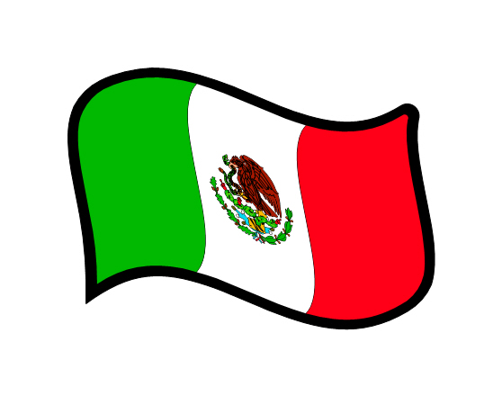 Mexican Flag Vector - ClipArt Best