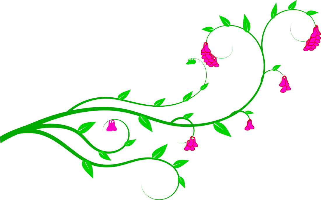 Flowers On A Vine Flower Vine Clipart