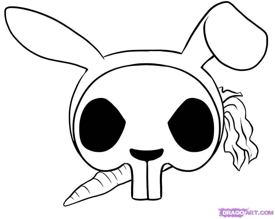 Easy skull drawings for Cool drawing sites