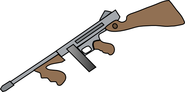 Thompson Machine Gun Clip Art at Clker.com - vector clip art ...
