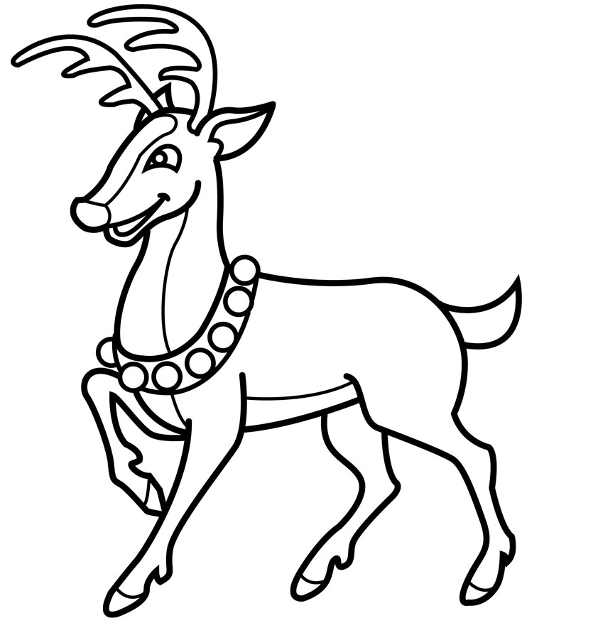cool christmas reindeer drawings images pictures becuo