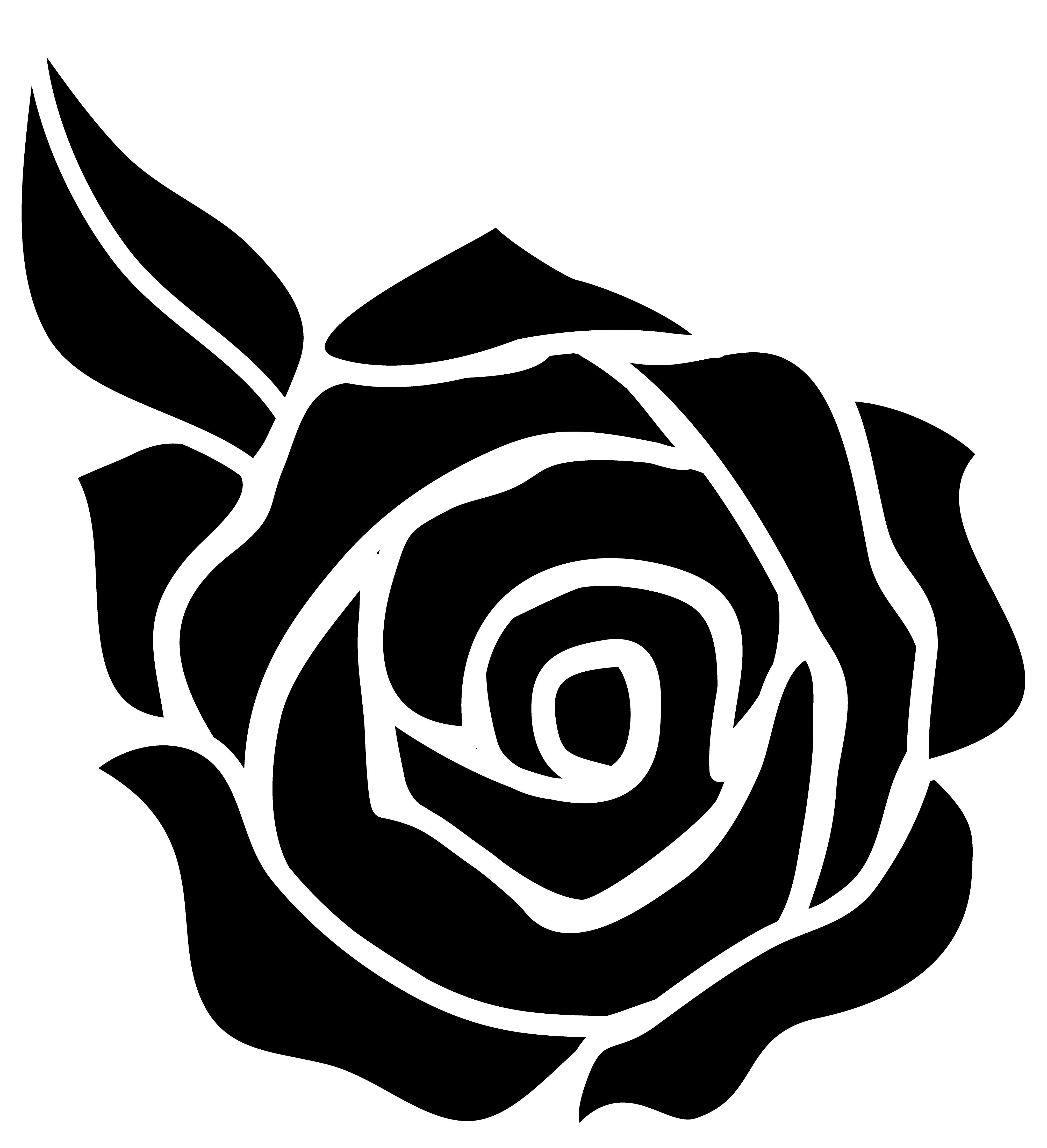rose silhouette clipart