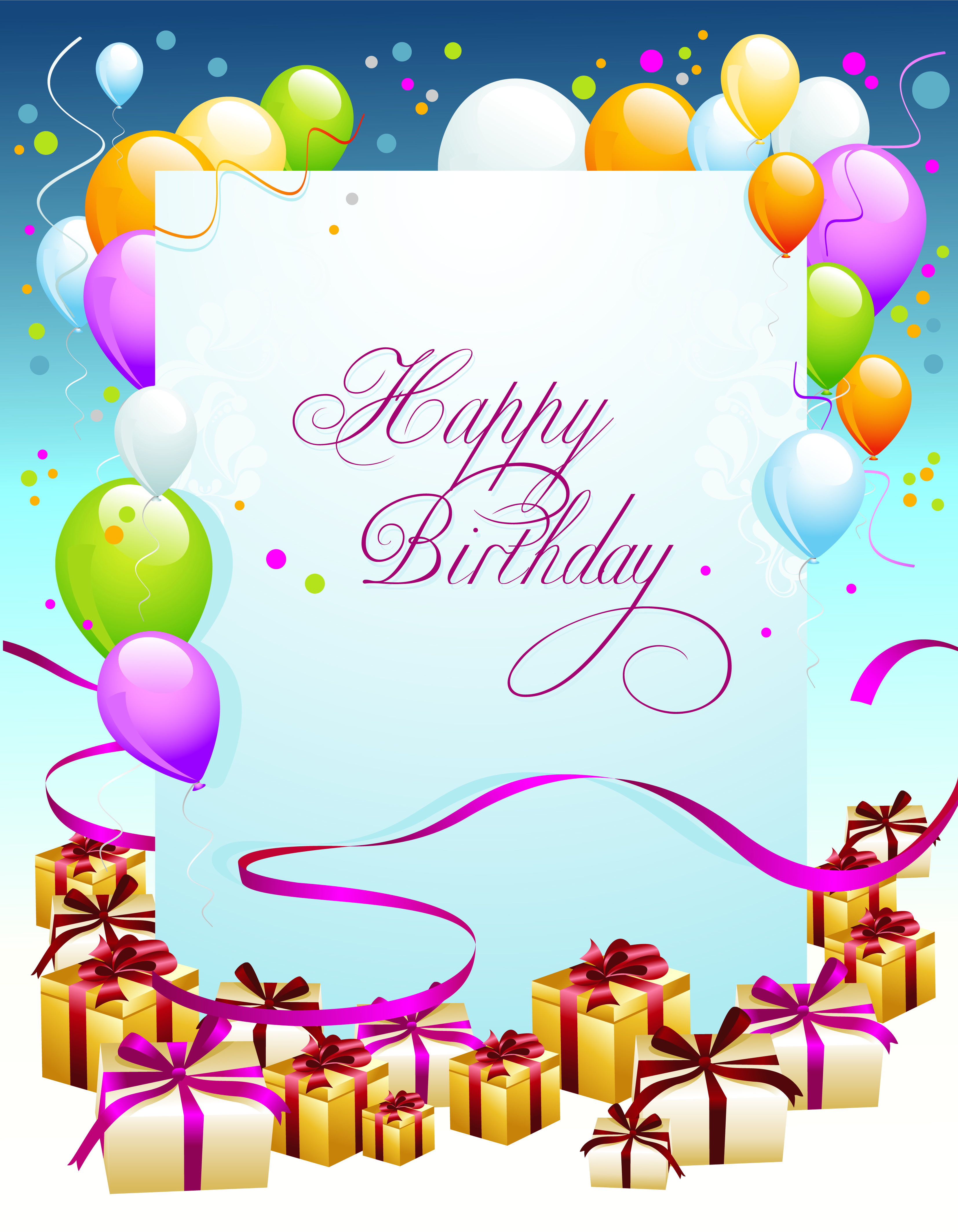 Sample birthday poster template photoshop